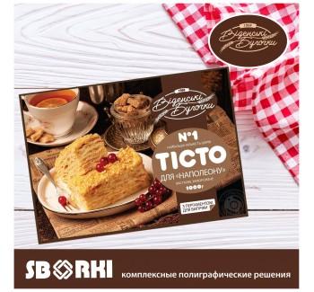 Упаковка кондитерских изделий компании «Віденські булочки» от типографии «Сборки». Успешное сотрудничество.